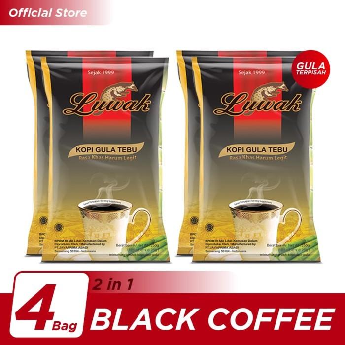 Foto Produk Kopi Luwak Plus Gula Tebu Black Coffee Bag 10x25gr - 4 Pcs dari Kopi Luwak Official
