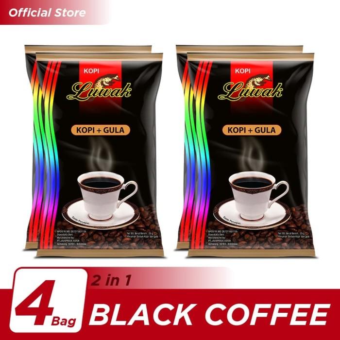 Foto Produk Kopi Luwak Plus Gula Black Coffee Bag 10x25gr - 4 Pcs dari Kopi Luwak Official