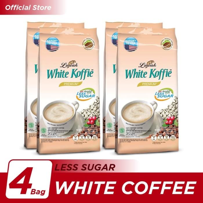 Foto Produk Kopi Luwak White Koffie Less Sugar Bag 10x20gr - 4 Pcs dari Kopi Luwak Official