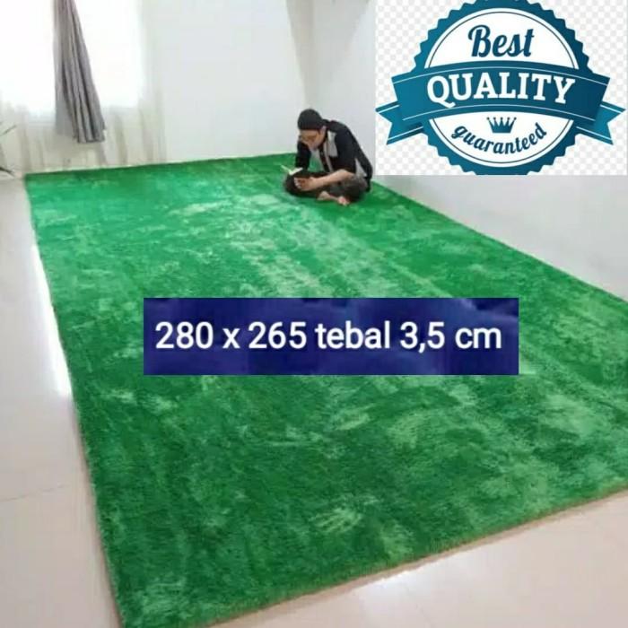 Foto Produk karpet bulu 280 x 265 tebal 3,5 cm rasfur isi busa empuk anti rontok dari BROUMmedia