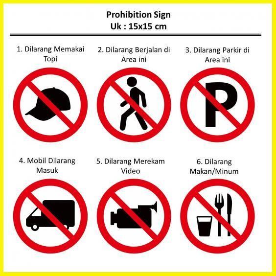 Jual Stiker Dilarang Prohibition Sign Tanda Logo Ehs Kantor Makan Parkir Me Jakarta Utara Erystory Tokopedia