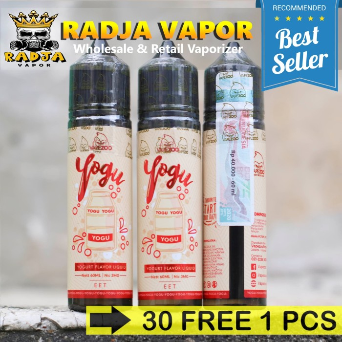 Jual Yogu Yogurt 60ml 3mg By Vapezoo Liquid Vape Vapor Cukai Kota Bekasi Radja Vapor Tokopedia