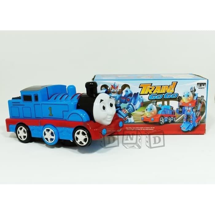Foto Produk Mainan Anak - Train Go Go Transform Robot Kereta Thomas Deform Biru dari Lumi Toys