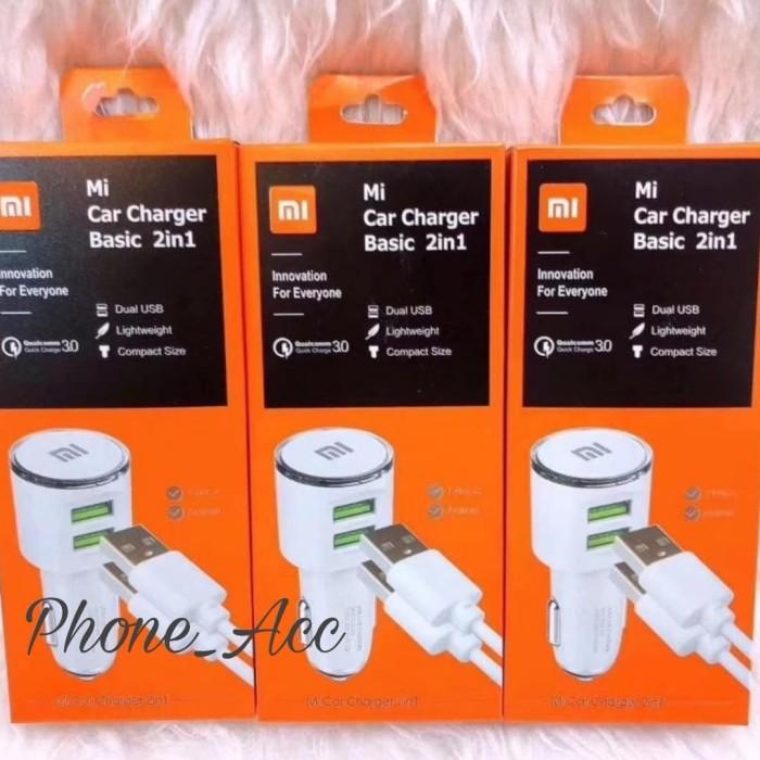 Foto Produk Charger Mobil Xiaomi 2 USB Mi Car Charger Saver Mobil 2 in 1 dari phone_acc