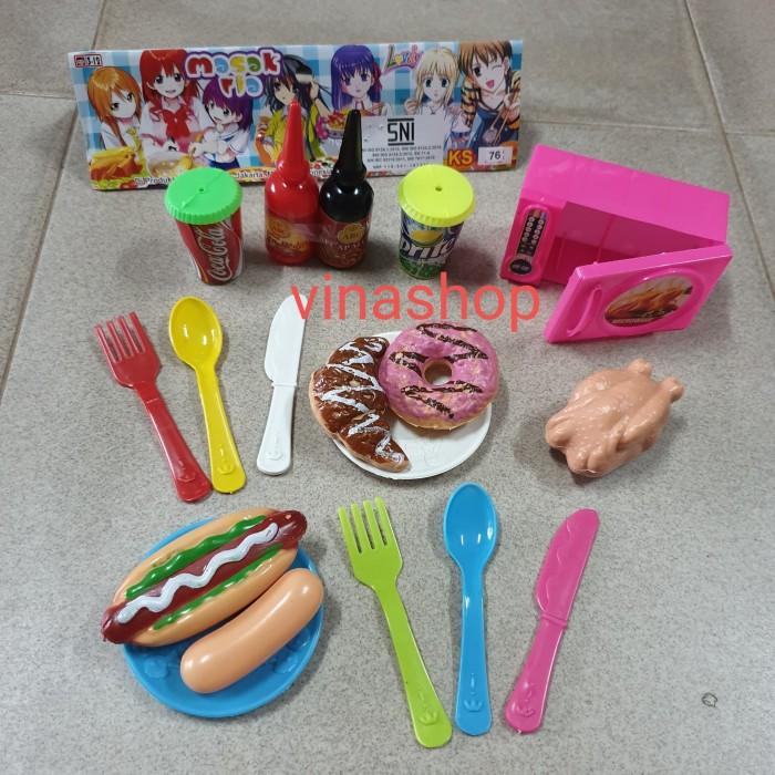 Jual Ks76 Mainan Masak Masakan Ria Roti Donat Ayam Sosis Hotdog Dapur Mama Kota Cirebon Vina Shop Grosir Tokopedia