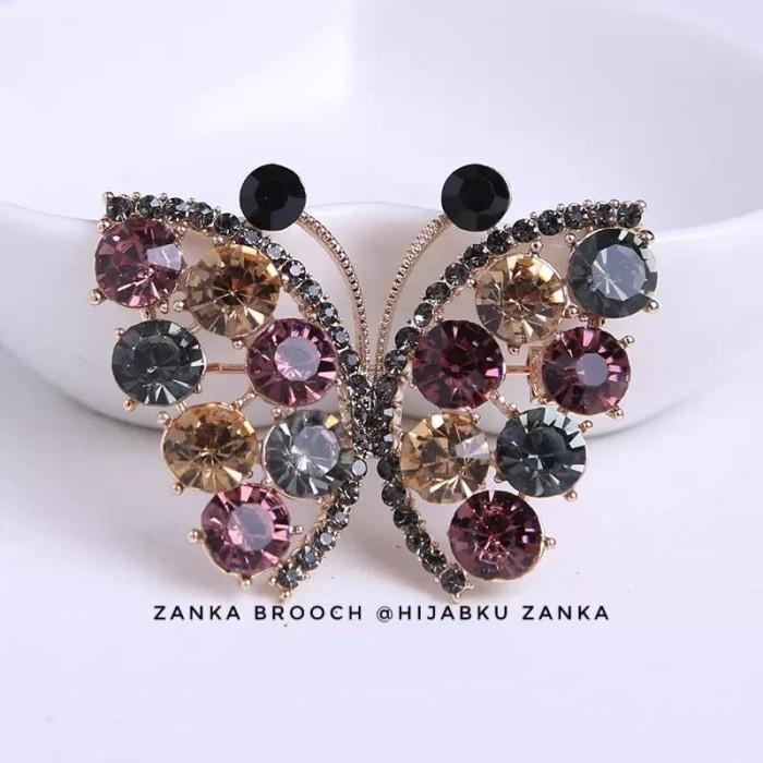 Foto Produk bros kupu kupu farasha (butterfly brooch) dari Hijabku Zanka