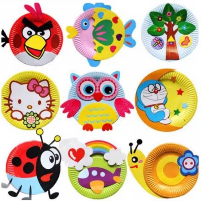 Jual New Kerajinan Tangan Anak Piring Kertas Diy Paper Plate Art Craft Jakarta Pusat Distributor Mainan Baru Tokopedia