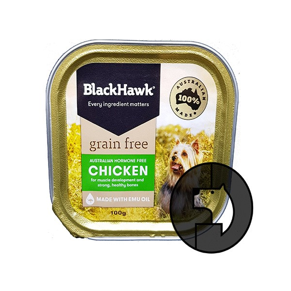 Foto Produk EXP 01 FEB 20 blackhawk 100 gr dog australian hormone free chicken dari F.J. Pet Shop