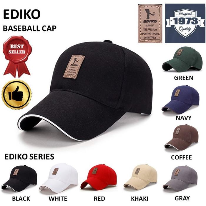 Foto Produk Baseball cap : EDIKO - Topi Baseball Topi Golf - EDIKO BLACK dari Toko 1973