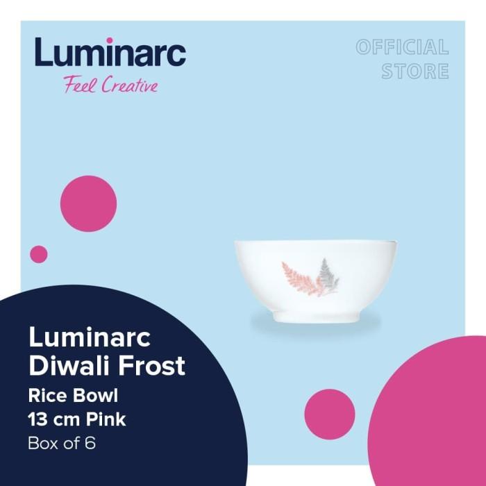 Foto Produk Luminarc Piring Diwali Frost - Rice Bowl 13cm Pink dari Luminarc