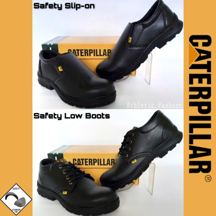 Foto Produk Sepatu Safety Pendek - Sepatu Kerja Safety - Safety Shoes Best Quality - Selop Hitam, 39 dari Athletic Fashion