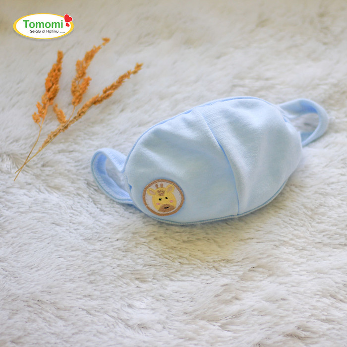 Foto Produk Masker Anak Motif polos - Biru Muda dari Tomomi Baby Wear
