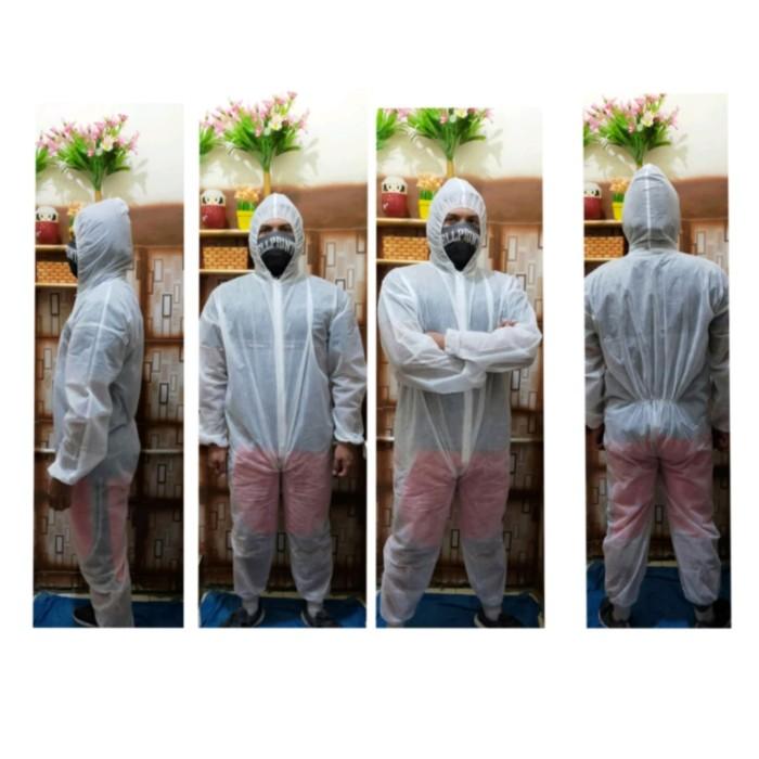 Foto Produk APD / hazmat / coverall / wearpack / baju anti virus - Putih dari Prince Daztan