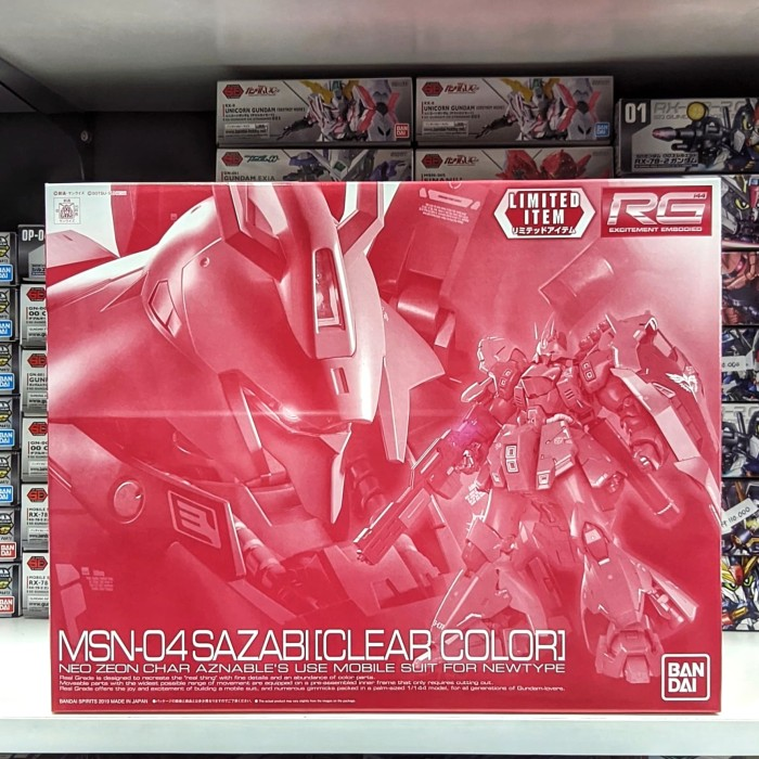 Foto Produk RG 1/144 Sazabi Clear Color Limited dari Hobby Japan