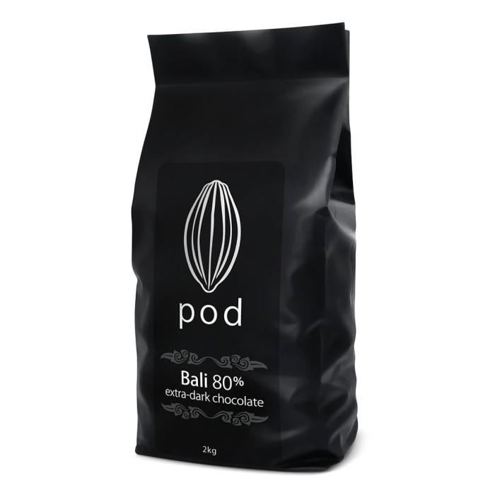 Foto Produk PODCHOCOLATE 80% Extra Dark – 2kg Drops Bali Chocolate dari PODCHOCOLATE BALI