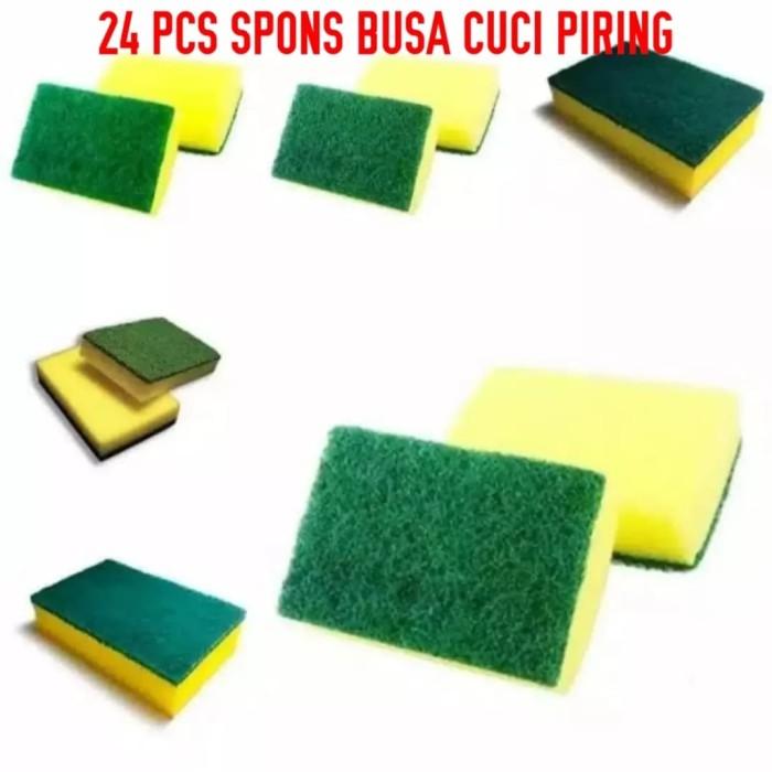 Foto Produk 24 pcs spons cuci piring serbaguna dari jay acc