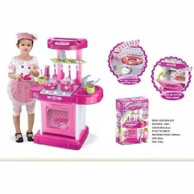 Foto Produk Masakan kitchen set pink koper import 008-58 dari Juned Shop