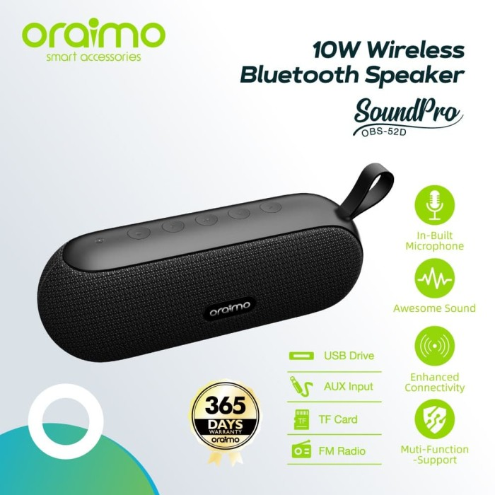 Foto Produk Oraimo SoundPro Portable TWS Wireless Bluetooth Speaker OBS-52D dari Oraimo_indonesia