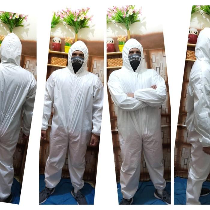 Foto Produk APD hazmat /wearpack / coverall / baju pelindung (spundbond 75 gsm) - Putih dari Prince Daztan