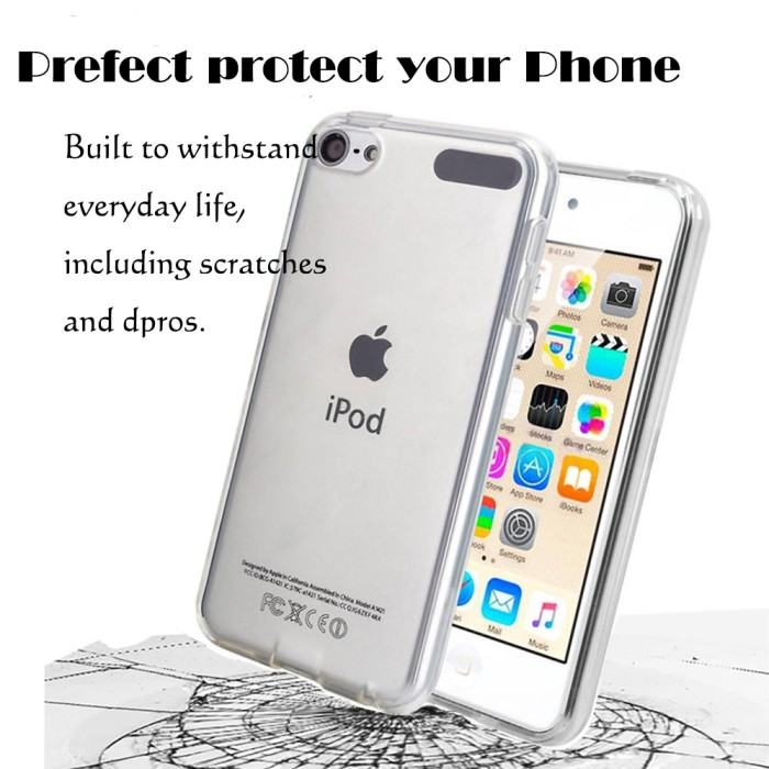 Frost Clear White TPU Gel Case Cover For Apple iPod Touch 5 5th Gen