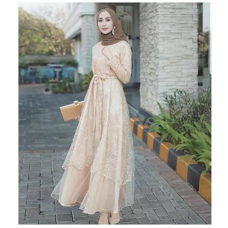 Jual Jildan Dress Outfit Kondangan Terbaru Gamis Brokat Terlaris 2020 Kota Bandung Outfit Muslim Official Tokopedia