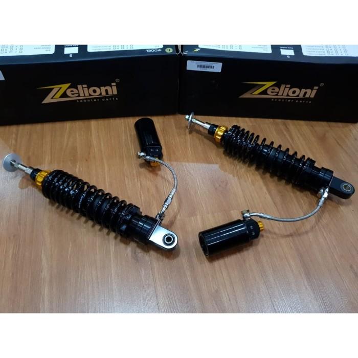 Foto Produk Zelioni Suspensiom Rear Full Subtank Vespa GTS black gloss dari Gaya Motor Baru