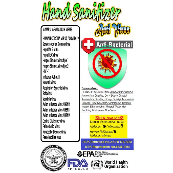 Jual Hand Sanitizer Anti Virus Bakteri Premium 100ml Kota Tangerang Karya Abadi 88 Tokopedia
