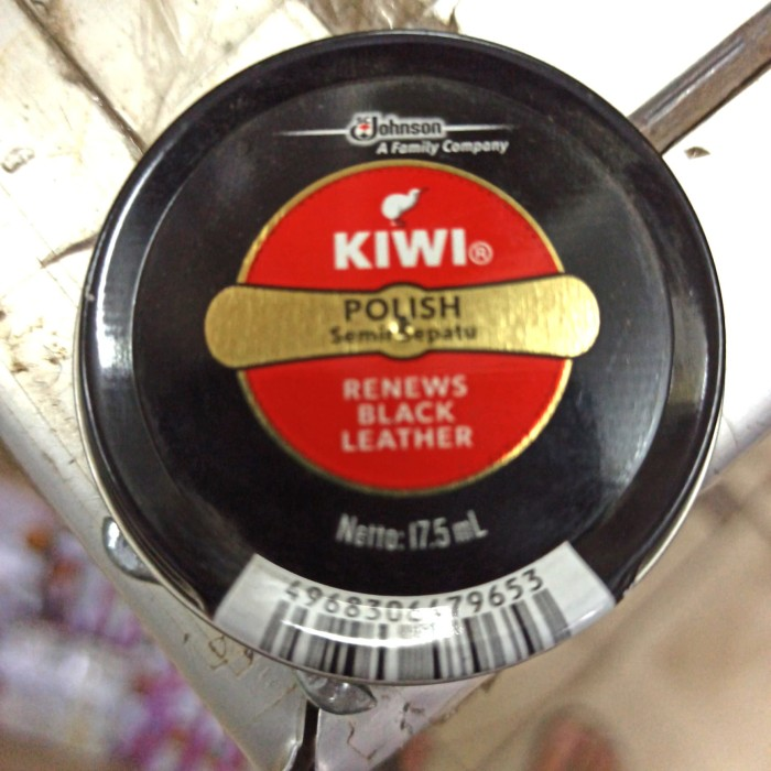 Foto Produk Kiwi Shoe Polish Black 17.5ml Semir Sepatu Hitam coklat - Hitam dari COSTMART
