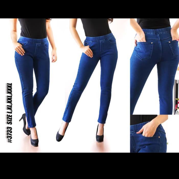 Jual Celana Jeans Legging Pinggang Karet All Varian Jumbo 35 36 37 38 Kota Tangerang Best Jeans Tokopedia