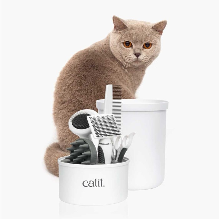 Foto Produk Catit 2.0 Shorthair Grooming Kit Set Cat Sisir Kucing Gunting Kuku dari Hime petshop