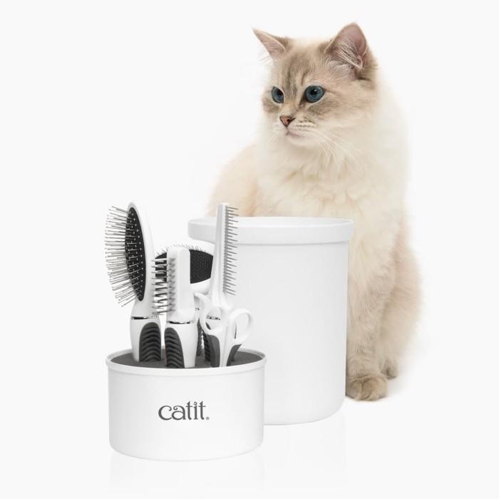 Foto Produk Catit 2.0 Longhair Grooming Kit Set Cat Sisir Kucing Gunting Kuku dari Hime petshop