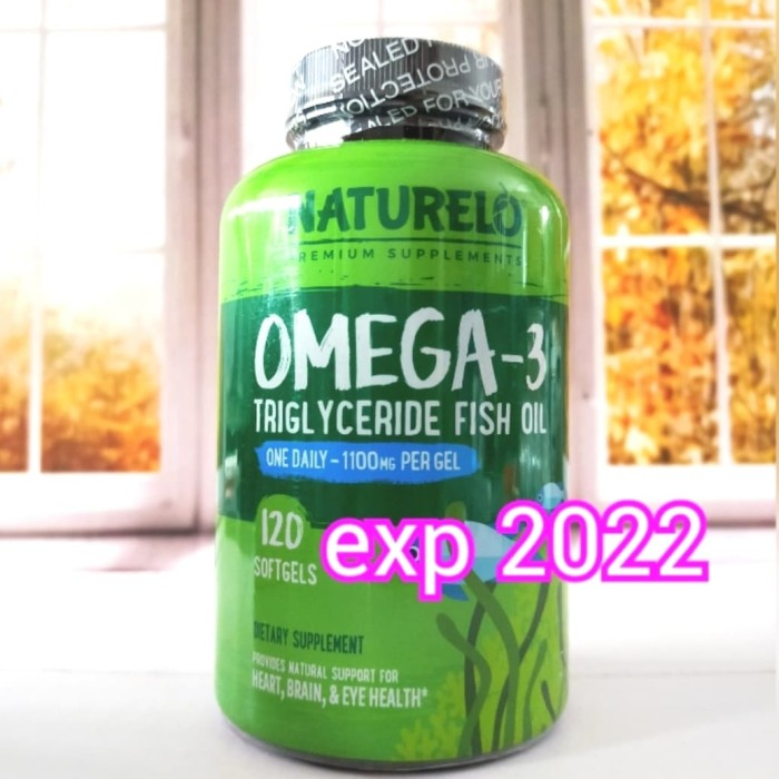 Foto Produk NATURELO Omega 3 Triglyceride Fish Oil 1100 mg isi 120 Softgels dari beautysta