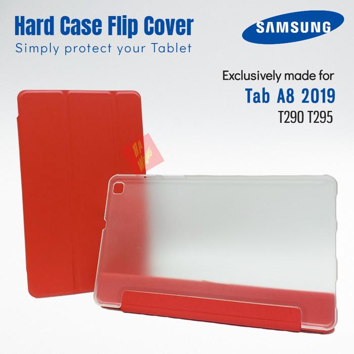 Foto Produk Flip Sarung Cover Hard Case Hardcase SAMSUNG Tab A8 2019 T290 T295 - Black dari Ba-Wang