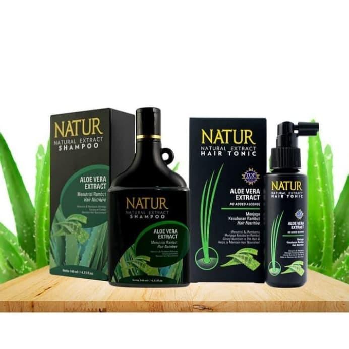 Foto Produk Natur Paket Aloe Vera Menyuburkan Rambut Shampo & Tonik dari Y3nny store