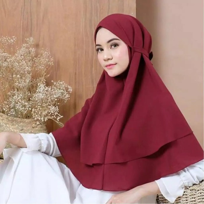 Jual Hijab Instan Bergo Maryam 2 Layer Non Ped Diamond Premium Terlaris Hitam Kab Kudus Zaharacollection Tokopedia