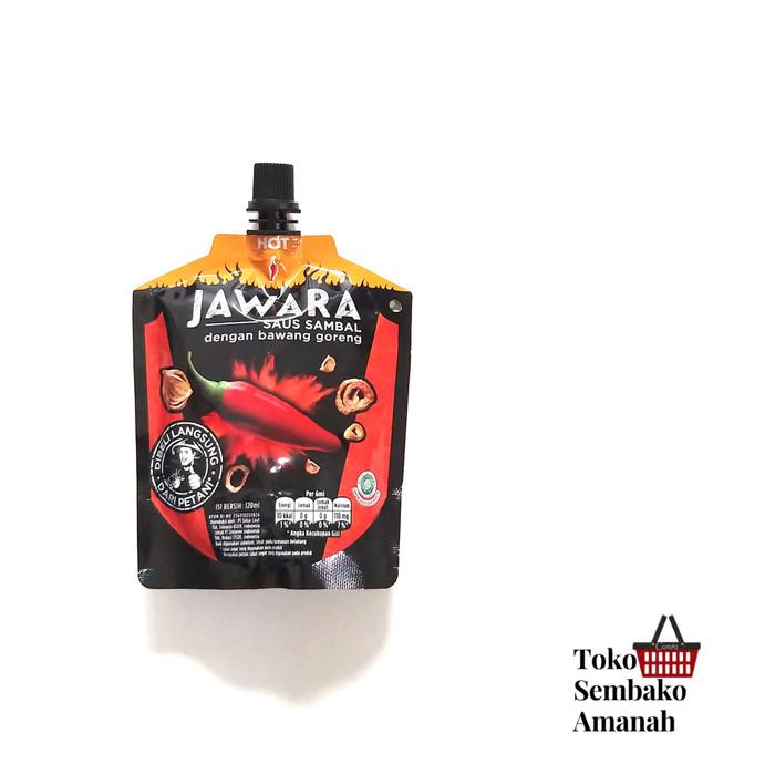 Foto Produk Saos sambal Jawara kemasan pouch 120ml - HOT dari Sembako Amanah20