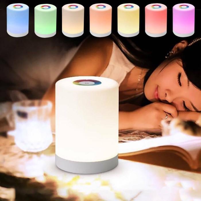 Jual M8 Night Light Bedside Touch Lamps Led Rgb Usb Dimmer Desktop Lamp Kota Surabaya Bruntaks Store Tokopedia