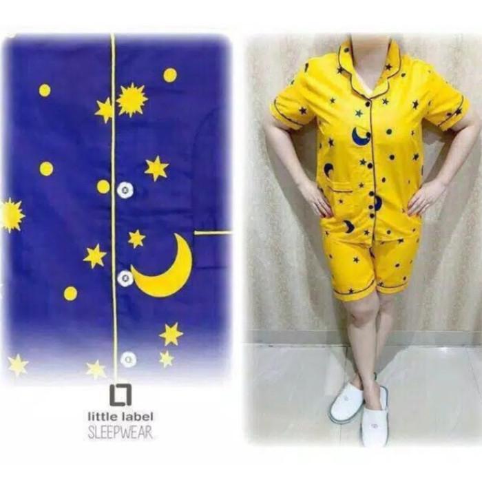 Foto Produk Hot Pant Piyama Motif Starmoon - Navy dari cantik piyama