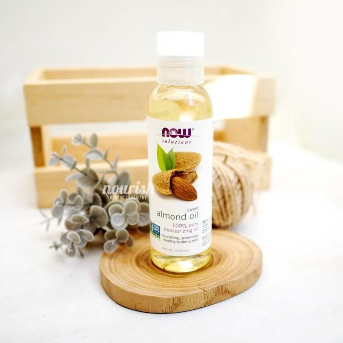 Foto Produk Now Foods, Solutions, Sweet Almond Oil, 4 fl oz (118 ml) dari Nourish Indonesia