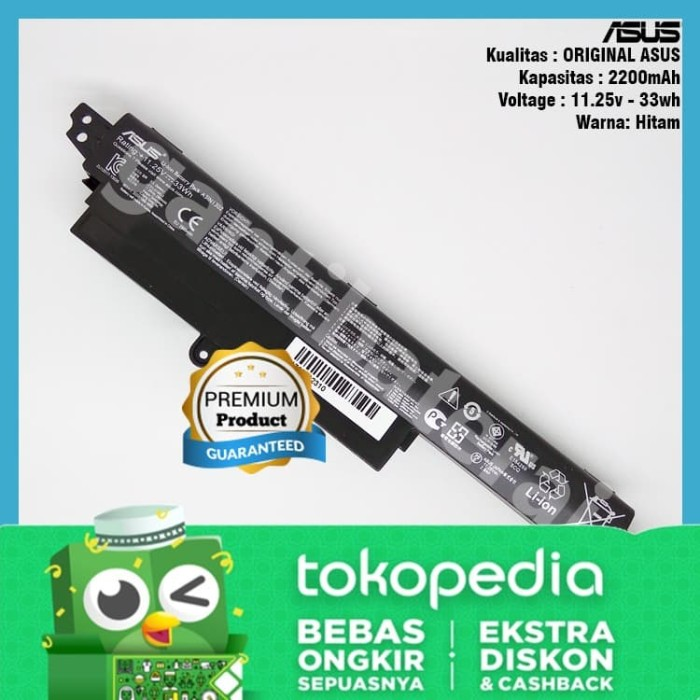 Foto Produk Original Baterai Asus VivoBook X200 X200CA X200M X200MA A31N1302 dari gantibaterai