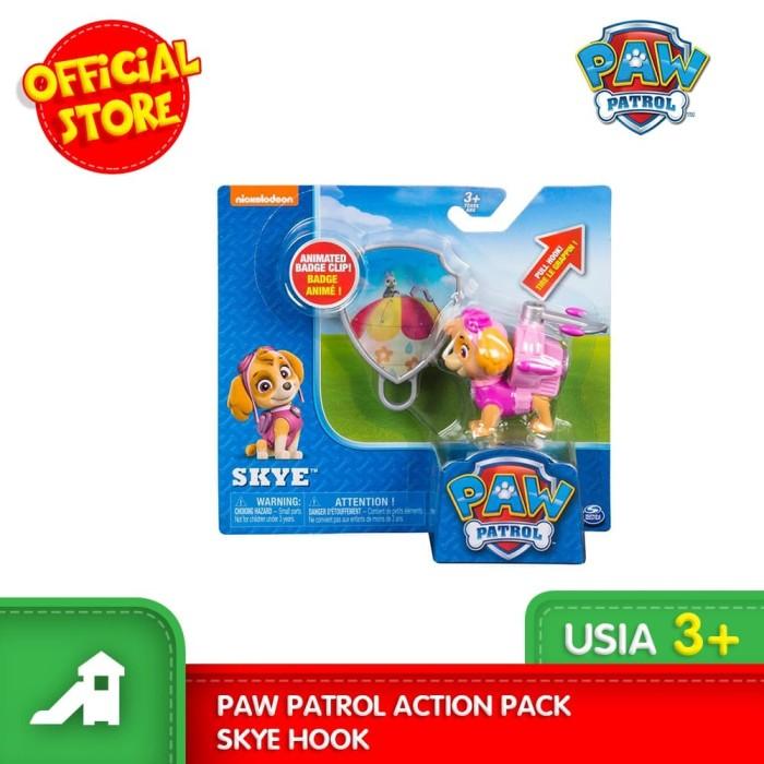 promo mainan figur paw patrol action pack skye hook  kota