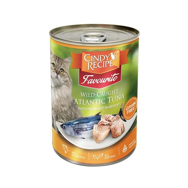 Foto Produk cindys recipe 400 gr cat wild caught atlantic fresh tuna dari F.J. Pet Shop