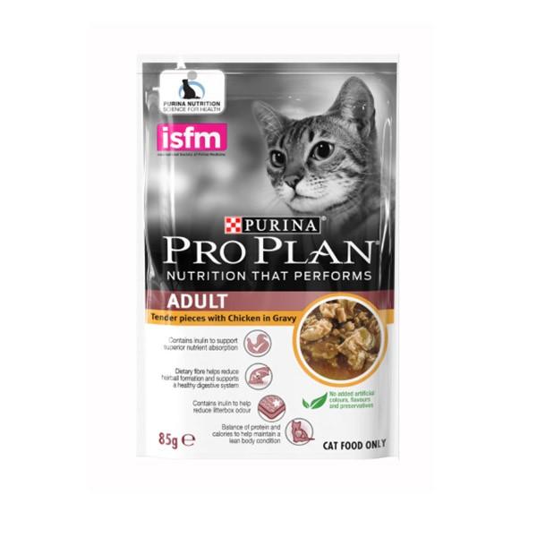 Foto Produk pro plan 85 gr cat adult tender pieces with chicken in gravy dari F.J. Pet Shop