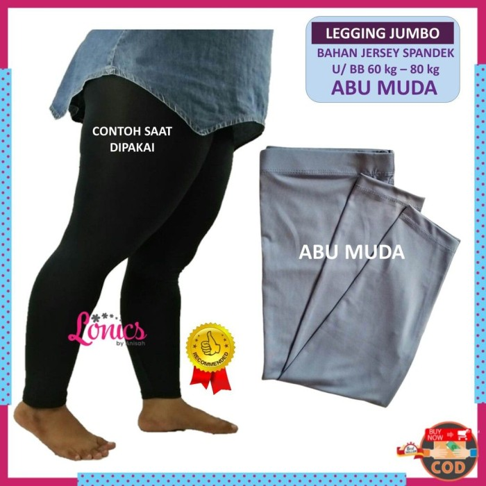Jual Celana Legging Jumbo Wanita Bahan Spandek Lejing Wanita Polos Lg8 Jakarta Pusat Berkah Hijab Tokopedia