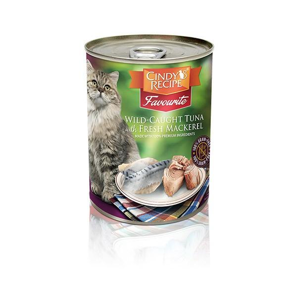 Foto Produk cindys recipe 400 gr cat wild caught tuna with fresh mackerel dari F.J. Pet Shop