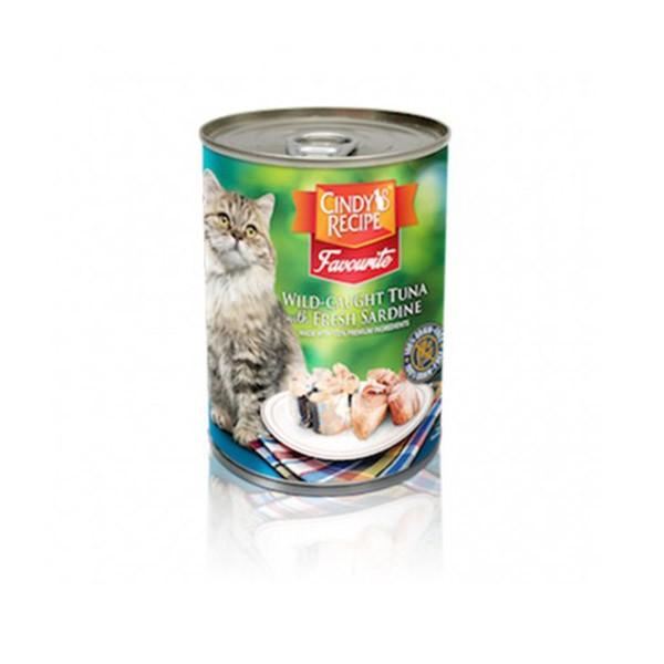 Foto Produk cindys recipe 400 gr cat wild caught tuna with fresh sardine dari F.J. Pet Shop