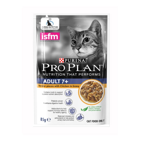 Foto Produk pro plan 85 gr cat adult 7+ tender pieces with chicken in gravy dari F.J. Pet Shop
