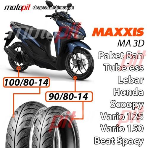 Jual Maxxis Paket Ma 3d Diamond Ban Lebar Vario 150 125 Sepasang 90 80 14 Jakarta Timur Jayycee 30 Tokopedia