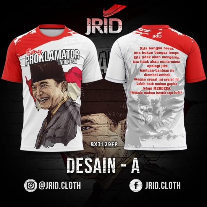 Foto Produk Kaos Baju Jersey Presiden Soekarno - Desain A - BX3129FP JRID dari jrid cloth