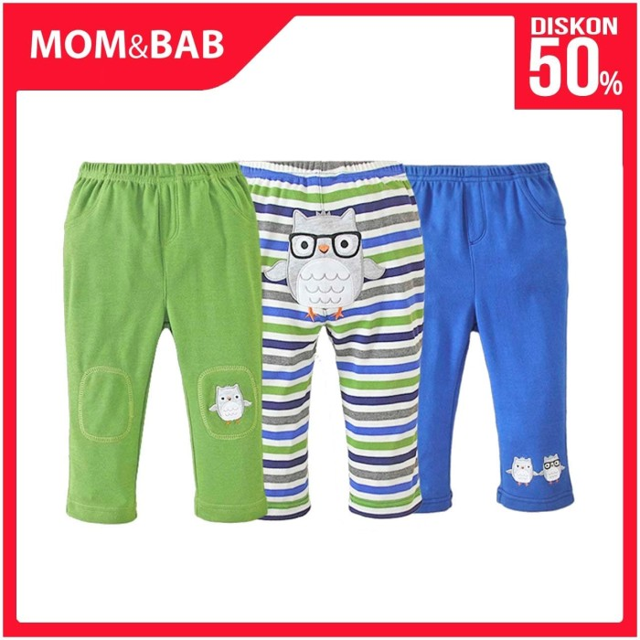 Foto Produk Mom n Bab Long Pants 3in1 - Blue Owl - 12 BUlan dari Mom n Bab